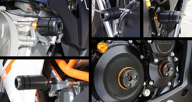 Sato Racing Frame Sliders Engine Sliders Timing Hole