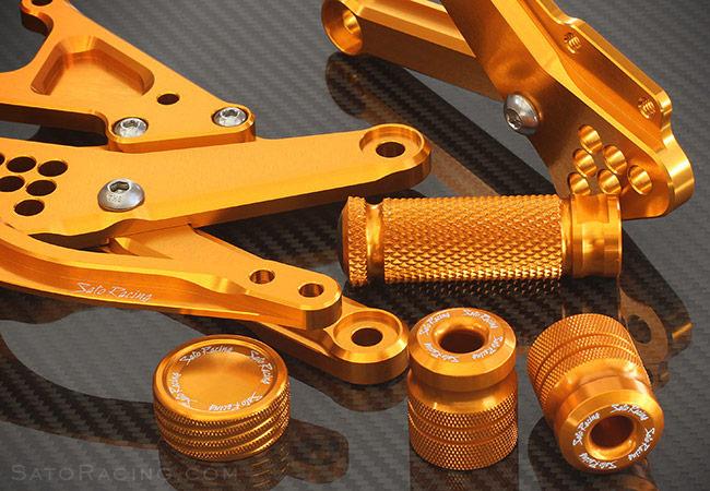 Anodized Aluminum Parts : Sato racing gold anodized parts