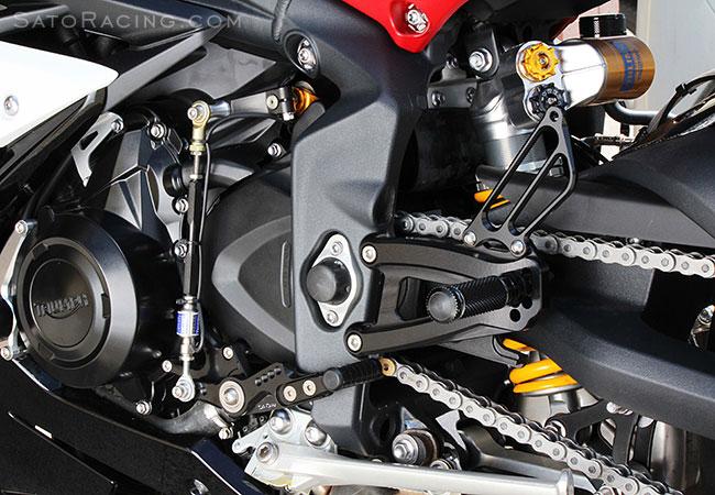Adjustable Rearsets Footrests Rear Set Black Fit 2013-2016 TRIUMPH Daytona 675 R