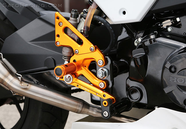 SATO RACING | Race Concept Rear Sets - Honda Grom ('16-'19)