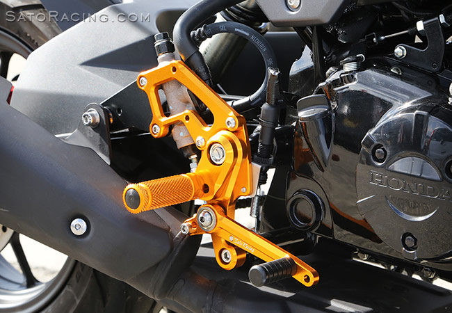 SATO RACING | Rear Sets - Honda GROM ('16-'19)
