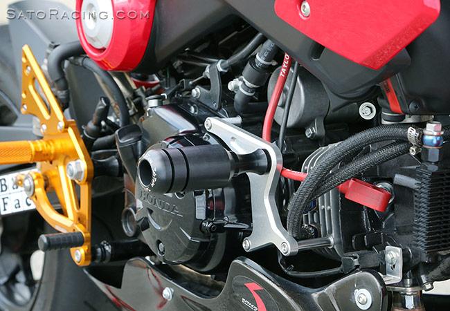 SATO RACING   Frame Sliders - Honda GROM/ MSX125 ('13-'16)