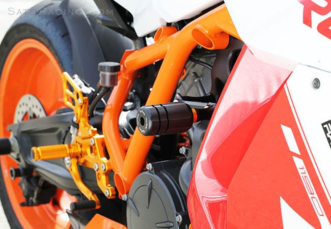 Sato Racing Frame Sliders Version 2 for KTM RC8 RC8 R KTM-RC811FS-BK